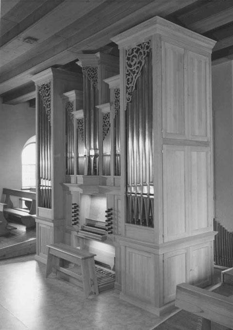 Die neue Orgel von Armin Hauser, Kleindöttingen, eingeweiht am Bettag, 16. September 1984.