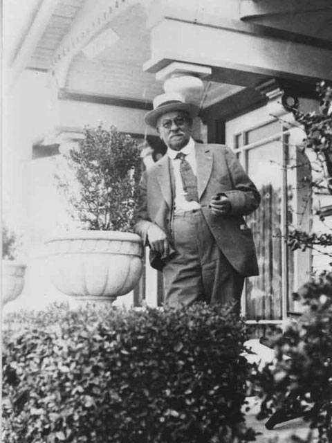 Mathew Schmid in front of his residence, 5416 S Wilton Place, L. A., Calif. (May 1929)
