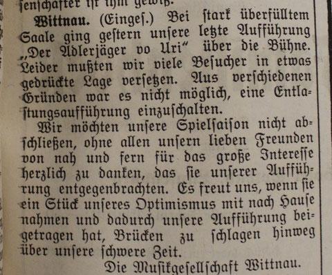 («Der Frickthaler», 16. Februar 1942)
