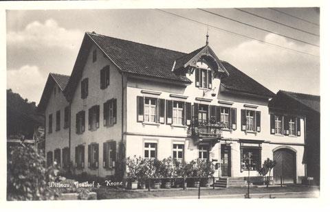 Diese Postkarte wurde 1929 nach Hellikon verschickt. Das Foto stammt wohl etwa von 1926 (Verlag G. Metz, Basel)