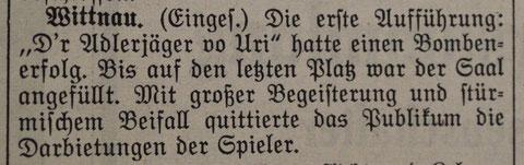 («Der Frickthaler» 2. Februar 1942)