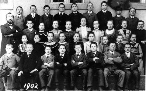 Die Wittnauer Fortbildungsschule im Jahr 1902. (Lehrer Emil Beck)