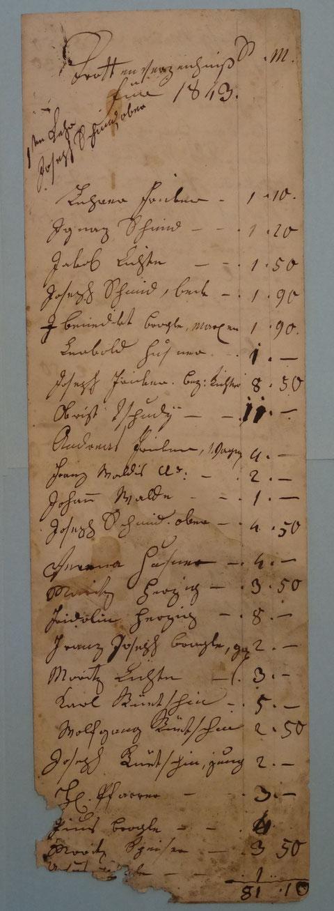 Wittnauer Trottenverzeichnis 1843