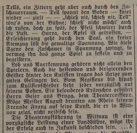 («Der Frickthaler», 4. Februar 1942)