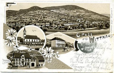 Die gleiche Karte in Braun  (1904)
