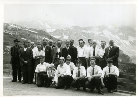 auf Vereinsreise (Foto: Toni Brogli, Vidalen; ca. 1966)