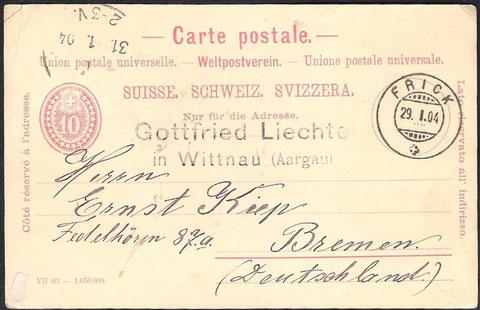 """Gottfried Herzog gab in der """"Verbandszeitung Deutscher Blumengeschäfts-Inhaber"""" ein Inserat auf  (Original bei Beat Walde, Wittnau)"""