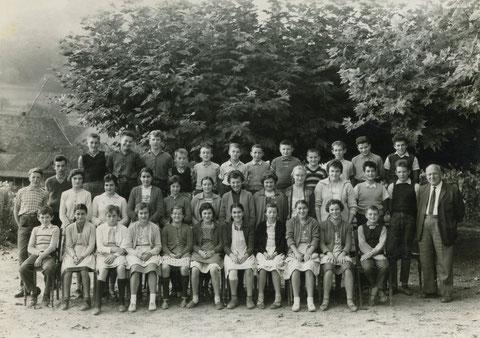 Sekundarschule Wittnau 1961 (Lehrer: Gottfried Müller-Weiss)