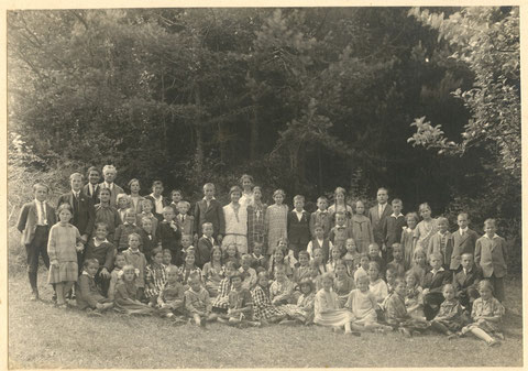 Die Schule Wittnau im Sommer 1929
