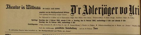 Inserat («Der Frickthaler» vom 30. Jan. 1942)
