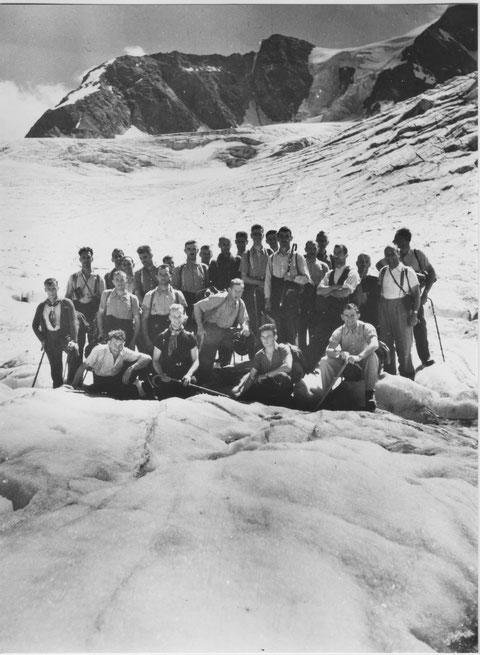 Männerchorreise 1946: Diavolezza - Morteratschgletscher