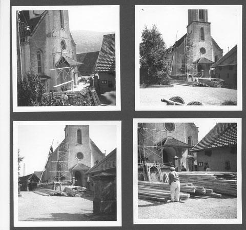 Renovation der Kirche im Jahr 1952