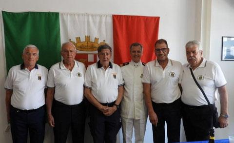 Pensionamento socio Legari con amici ANMI Trieste.