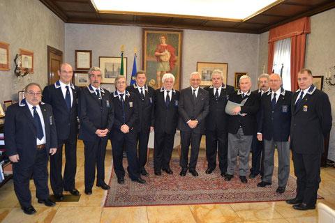 Il Consiglio Direttivo con i Sindaci del Gruppo ANMI di Trieste assieme al Delegato Regionale Seppi hanno fatto visita al Prefetto di Trieste S.E. Dott. GIACCHETTI