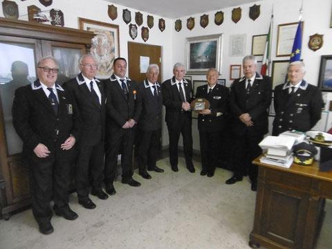 Visita al Comandante C.P. del nuovo C.D. ANMI Trieste