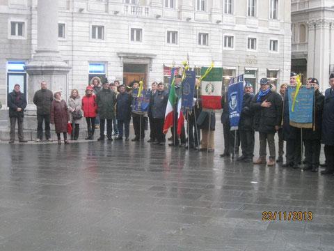 Associazioni intervenute. Piazza Unità .