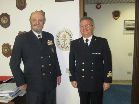 Amm. Basile con Pres. marinai austriaci Skrivanek