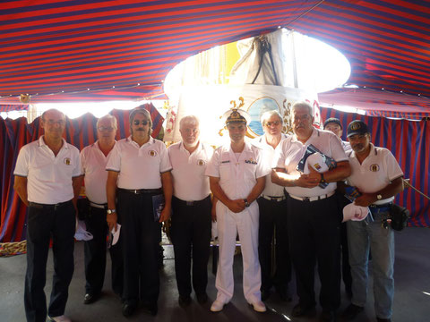 Gruppo soci ANMI in visita a Nave Palinuro