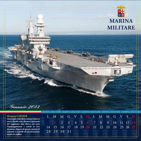 Presentato il calendario della Marina Militare 2013