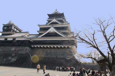 二つの天守閣を持つ熊本城