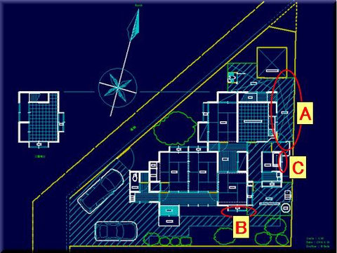 敷地は約80坪あるが、形状良くないのが難点。