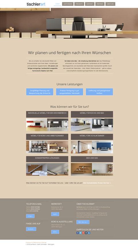 Website tischlerart.de