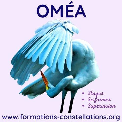 L'association OMÉA est un centre de formation, une école de Constellations Familiales et Systémiques, pour devenir Constellateur ou constelleur (animateur de constellations), située à proximité de La Rochelle en Charente-Maritime (17),  et en 31, France.