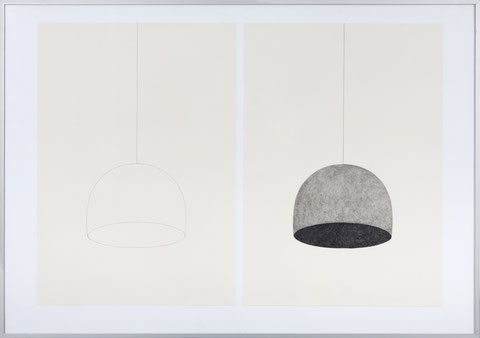 Hülle VI, je 55 x 42 cm, Bleistift auf Papier, 2012