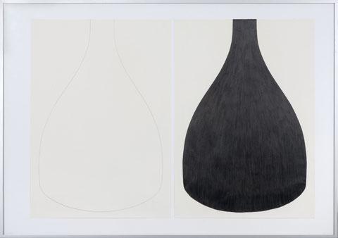 Hülle III, je 55 x 42 cm, Bleistift auf Papier, 2012