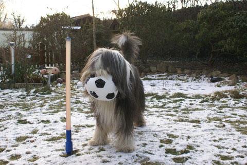 Mit seinem neuen Ikea Ball