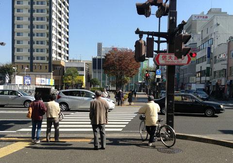 信夫通り横断歩道