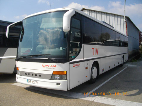 Setra S316 UL n° 7647 - 846 APT 35 - Dépôt TIV - Véolia - Photo Vieuxgo