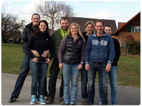 Andy, Chantal, Jörg, Nicole, Tanja, Thomas und Gabi
