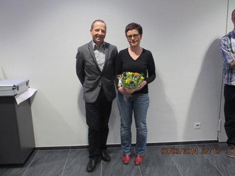 Der neue Präsident Anton Hänni und die neue Sportchefin Sandra Mäder.