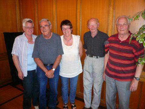 Denise Mülhauser, Hans Lengacher, Liliane Tüscher, Werner Mosimann, Erwin Müller (von links nach rechts)  -  (Es fehlt Martin Stettler)