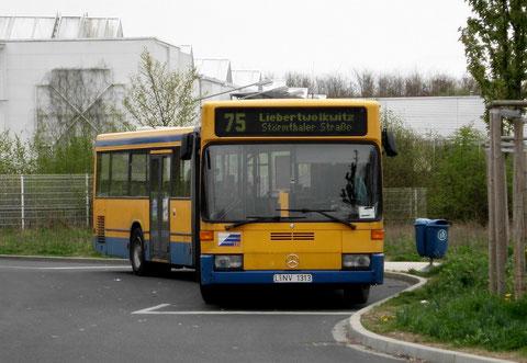 313 auf der Linie 75 in Probstheida