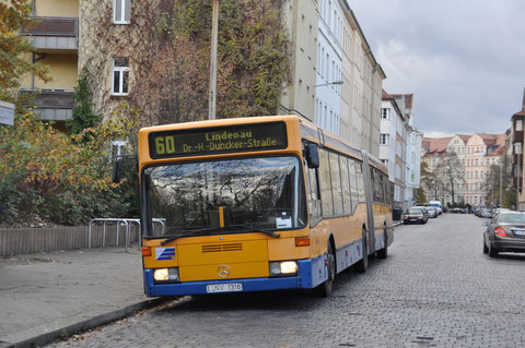 316 an der Endstelle Lipsiusstraße