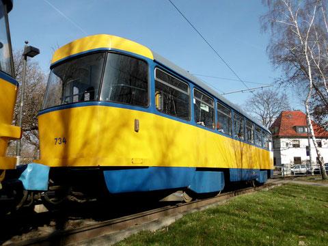 Der Beiwagen 734 in Meusdorf