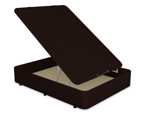 Canapé abatible Open con estructura de acero y base de madera.