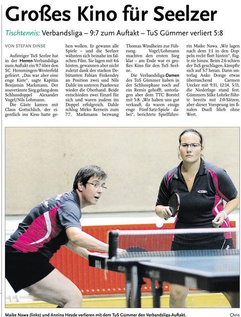 Neue Presse vom 09.09.2013