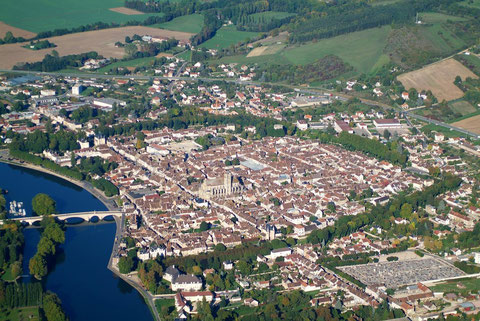 View of Villeneuve-sur-Yonne