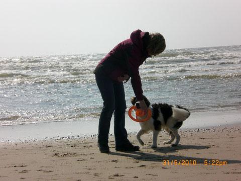 Colin am Strand in Egmond aan Zee