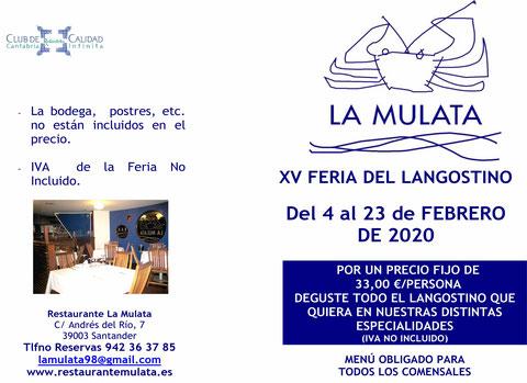 FERIA DEL LANGOSTINO LA MULATA 2020