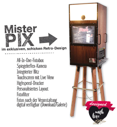 Fotobox Mister Pix Vintage Look