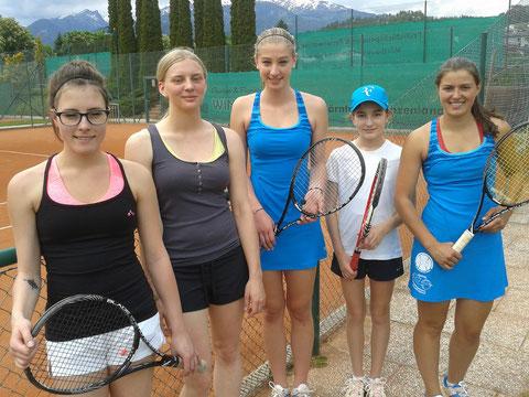 Anita Strauß, Johanna Huber, Viktoria Zehentner, Melanie Moser, Lisa Gritzner