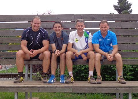 Manuel Meixner, Raphael Eder, Thomas Traschitzker und Christian Oberwinkler (nicht im Bild Klaus Brandner, Bernd Bezrucka)