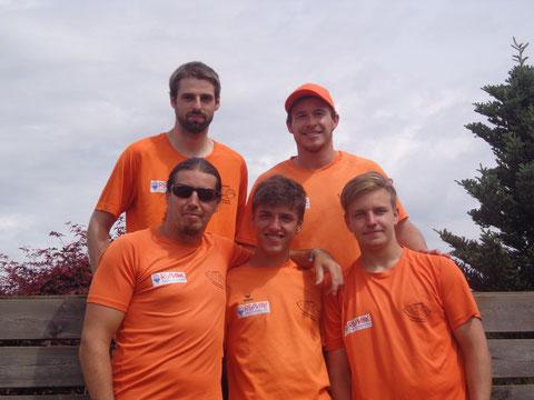Lukas Persterer, Thomas Erlacher (hinten), Martin Taudes, Simon Keuschnig und Manuel Leutschacher