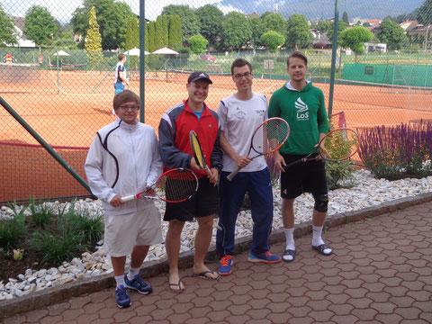 Kevin Obergriessnig, Christopher Pucher, Bernie Kraler und Thomas Ramsbacher (v.l.n.r., nicht im Bild Kilian Hofmann und Bernhard Abwerzger)