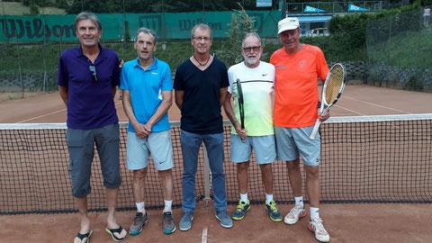 Hermann, Herbert, Hans, Kurt und MF Gerald (nicht im Bild Karl)