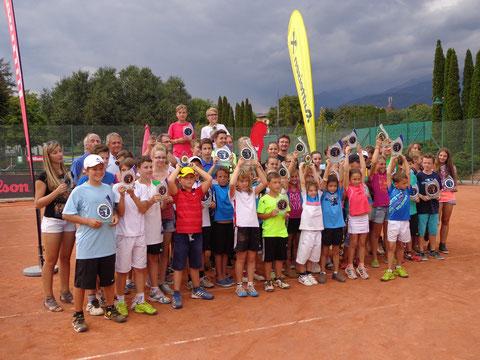 Gruppenbild nach der Siegerehrung beim Masters am 08.09.2013